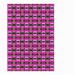 Pretty Pink Flower Pattern Small Garden Flag (two Sides) by BrightVibesDesign
