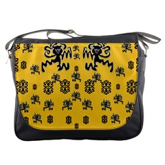 Disco Dancing In The  Tribal Nature  Messenger Bags by pepitasart
