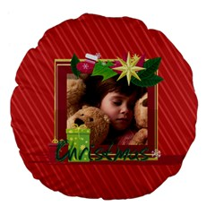 Xmas By 2016   Large 18  Premium Flano Round Cushion    P5afuqfscl7p   Www Artscow Com Back
