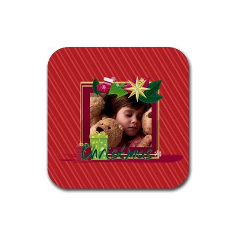 Xmas By 2016   Rubber Square Coaster (4 Pack)   7yk20jig8044   Www Artscow Com Front