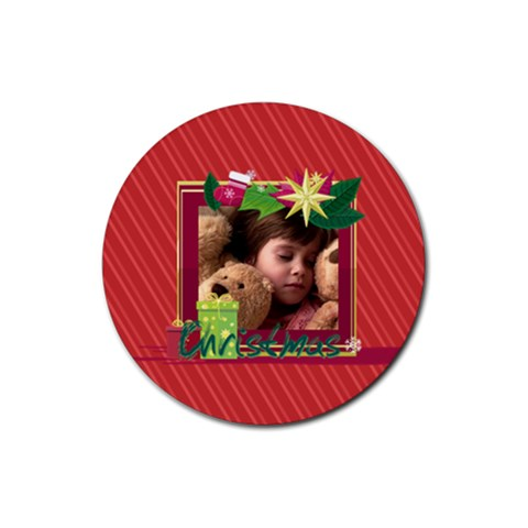 Xmas By 2016   Rubber Coaster (round)   Ctwwklkohqky   Www Artscow Com Front