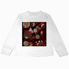 Artistic Abstraction Kids Long Sleeve T Shirts by Valentinaart