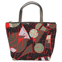 Artistic abstraction Bucket Bags by Valentinaart