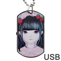 Nakayoshi Strawberry Dog Tag USB Flash (Two Sides)  by kaoruhasegawa