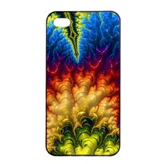 Amazing Special Fractal 25a Apple Iphone 4/4s Seamless Case (black) by Fractalworld