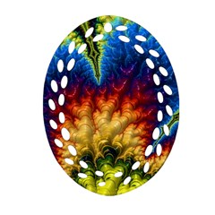 Amazing Special Fractal 25a Ornament (oval Filigree)  by Fractalworld