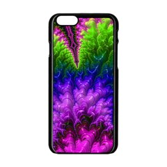 Amazing Special Fractal 25c Apple Iphone 6/6s Black Enamel Case by Fractalworld