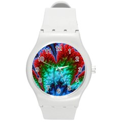 Amazing Special Fractal 25b Round Plastic Sport Watch (m) by Fractalworld