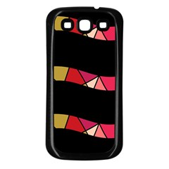 Abstract waves Samsung Galaxy S3 Back Case (Black)