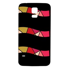 Abstract waves Samsung Galaxy S5 Back Case (White)