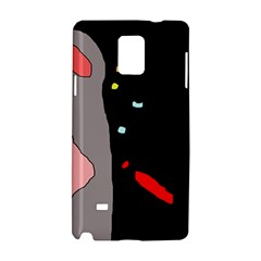 Crazy Abstraction Samsung Galaxy Note 4 Hardshell Case by Valentinaart