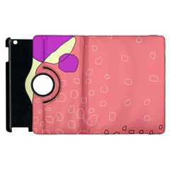 Pink abstraction Apple iPad 3/4 Flip 360 Case