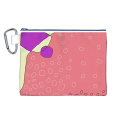 Pink Abstraction Canvas Cosmetic Bag (l) by Valentinaart