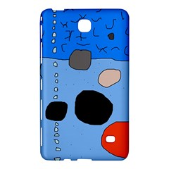 Blue Abstraction Samsung Galaxy Tab 4 (7 ) Hardshell Case  by Valentinaart