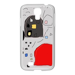 Playful abstraction Samsung GALAXY S4 I9500/ I9505 Case (White)