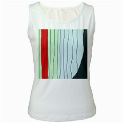 Decorative Lines Women s White Tank Top by Valentinaart