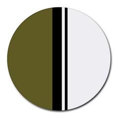 Elegant lines Round Mousepads by Valentinaart