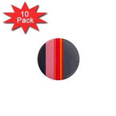Optimistic Lines 1  Mini Magnet (10 Pack)  by Valentinaart