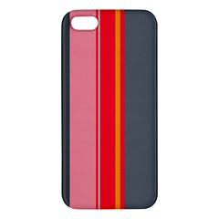 Optimistic Lines Apple Iphone 5 Premium Hardshell Case by Valentinaart