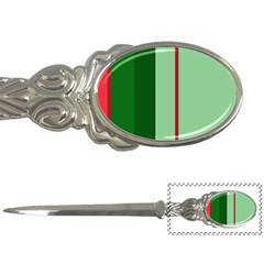Green And Red Design Letter Openers by Valentinaart