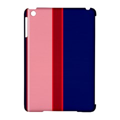 Pink and blue lines Apple iPad Mini Hardshell Case (Compatible with Smart Cover) by Valentinaart