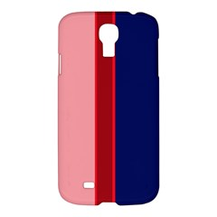 Pink And Blue Lines Samsung Galaxy S4 I9500/i9505 Hardshell Case by Valentinaart