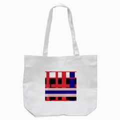 Red Abstraction Tote Bag (white) by Valentinaart