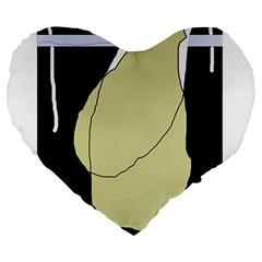 Elegant design Large 19  Premium Flano Heart Shape Cushions by Valentinaart
