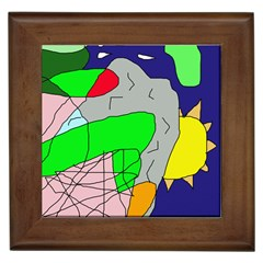 Crazy Abstraction Framed Tiles by Valentinaart