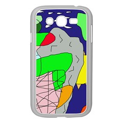 Crazy Abstraction Samsung Galaxy Grand Duos I9082 Case (white) by Valentinaart