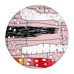 Worms Ornament (Round Filigree)  by Valentinaart