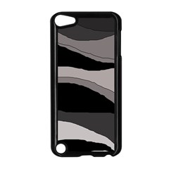 Black and gray design Apple iPod Touch 5 Case (Black) by Valentinaart