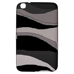 Black and gray design Samsung Galaxy Tab 3 (8 ) T3100 Hardshell Case  by Valentinaart