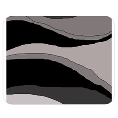 Black and gray design Double Sided Flano Blanket (Medium)