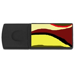 Decorative abstract design USB Flash Drive Rectangular (2 GB)  by Valentinaart
