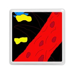Red abstraction Memory Card Reader (Square)  by Valentinaart