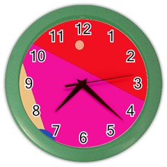 Colorful Abstraction Color Wall Clocks by Valentinaart