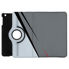 Elegant gray Apple iPad Mini Flip 360 Case by Valentinaart