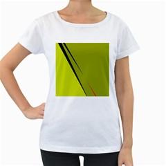 Yellow elegant design Women s Loose-Fit T-Shirt (White) by Valentinaart