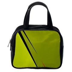 Yellow elegant design Classic Handbags (One Side) by Valentinaart