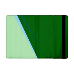 Green Design Apple Ipad Mini Flip Case by Valentinaart
