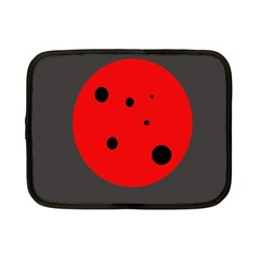 Red Circle Netbook Case (small)  by Valentinaart