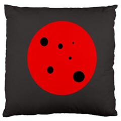 Red circle Standard Flano Cushion Case (Two Sides) by Valentinaart