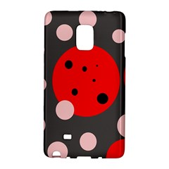 Red And Pink Dots Galaxy Note Edge by Valentinaart