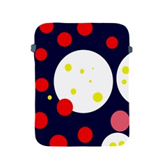 Abstract moon Apple iPad 2/3/4 Protective Soft Cases by Valentinaart