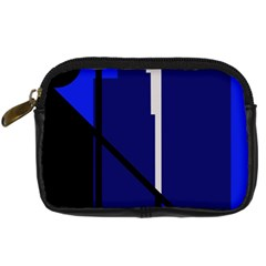 Blue Abstraction Digital Camera Cases by Valentinaart