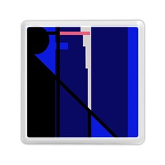 Blue Abstraction Memory Card Reader (square)  by Valentinaart