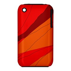 Red And Orange Decorative Abstraction Apple Iphone 3g/3gs Hardshell Case (pc+silicone) by Valentinaart