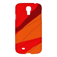 Red And Orange Decorative Abstraction Samsung Galaxy S4 I9500/i9505 Hardshell Case by Valentinaart
