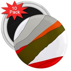 Decorative Abstraction 3  Magnets (10 Pack)  by Valentinaart